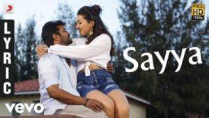 sayya song lyrics, neeya 2, tamil song lyrics