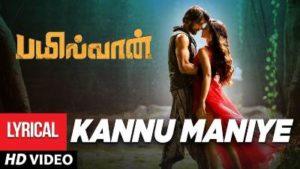Kannu Maniye Song Lyrics - Bailwaan