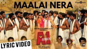 Maalai Nera Mallipoo Song Lyrics - A1_ Accused No.1