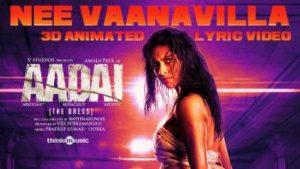 Nee Vaanavilla Song Lyrics - Aadai