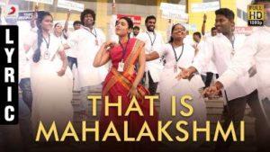 That Is Mahalakshmi Song Lyrics - 100% Kadhal