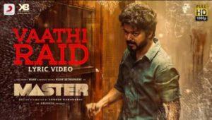 Vaathi Raid Song Lyrics - Master
