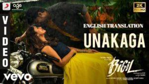 Unakaga Song Lyrics English Meaning + Translation - Bigil