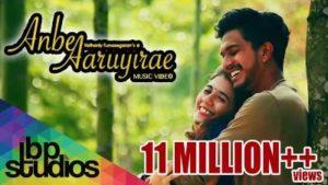 Anbe Aaruyire Song Lyrics - Prashan Sean, Mugen Rao & NavinRaaj Mathavan